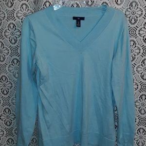 Light blue Gap V neck cotton sweater